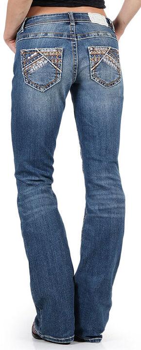 Shyanne Women's Slim Fit Boot Cut Jeans, Blue, hi-res