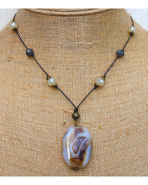 InspireDesigns Women's Brown Summit Necklace , Brown, hi-res