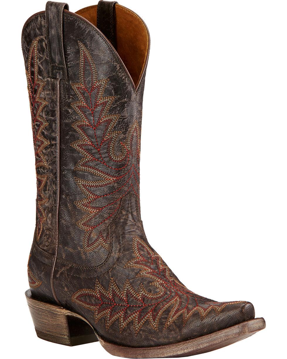 Ariat Brooklyn Cowgirl Boots - Snip Toe , Coffee, hi-res