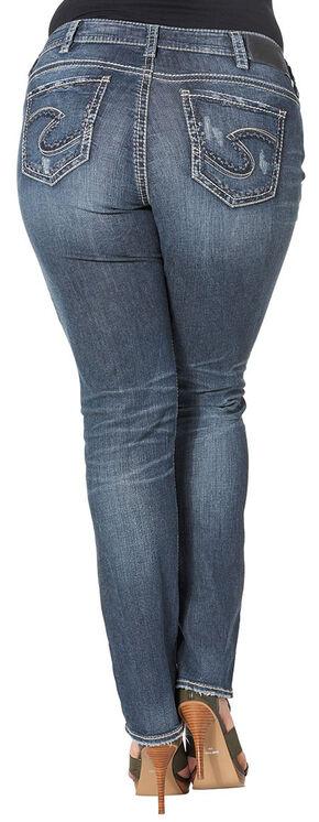 Silver Women's Suki Mid Straight Dark Wash Jeans - Plus Size, Blue, hi-res