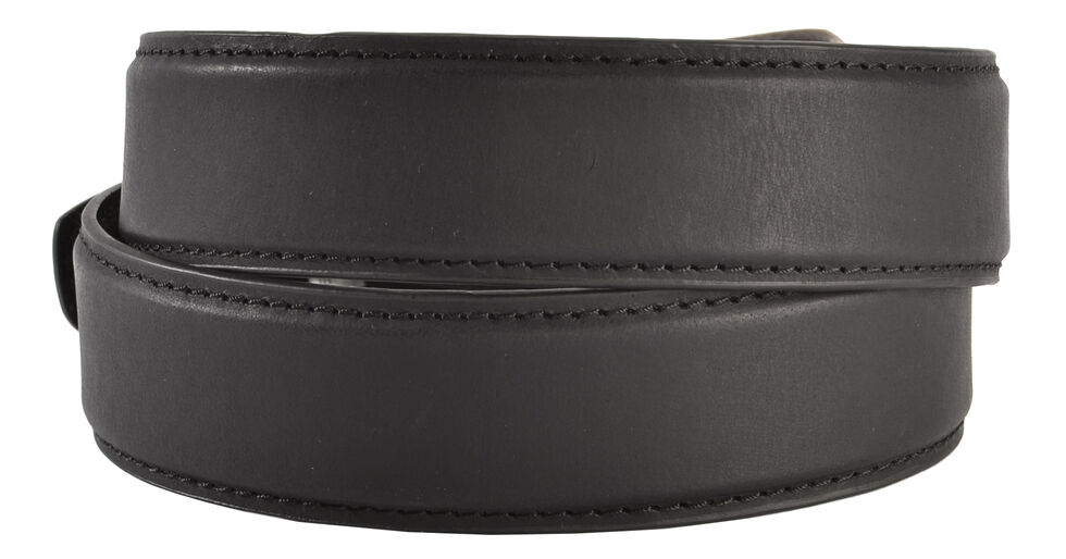 AndWest Men's Feather Edge Tooled Leather Belt, Black, hi-res