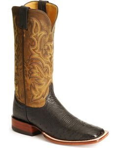 Justin Smooth Ostrich AQHA Remuda Western Cowboy Boots - Square Toe, , hi-res