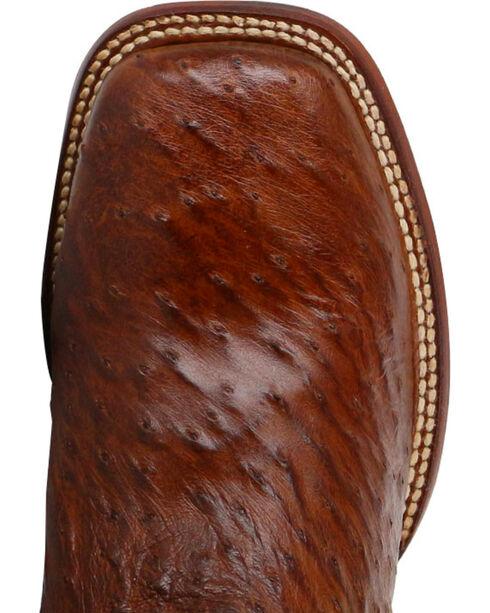 Dan Post Men's Ostrich Cognac Exotic Boots - Square Toe , Cognac, hi-res