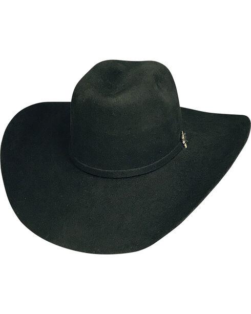 Bullhide Men's Resilient 6X Wool Cowboy Hat, Black, hi-res