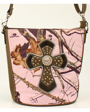 Blazin Roxx Camo Concealed Carry Cross Shoulder Bag, Pink, hi-res