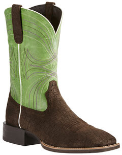 Ariat Men's Brown Sport Wide Square Toe Boots - Wide Square Toe, , hi-res