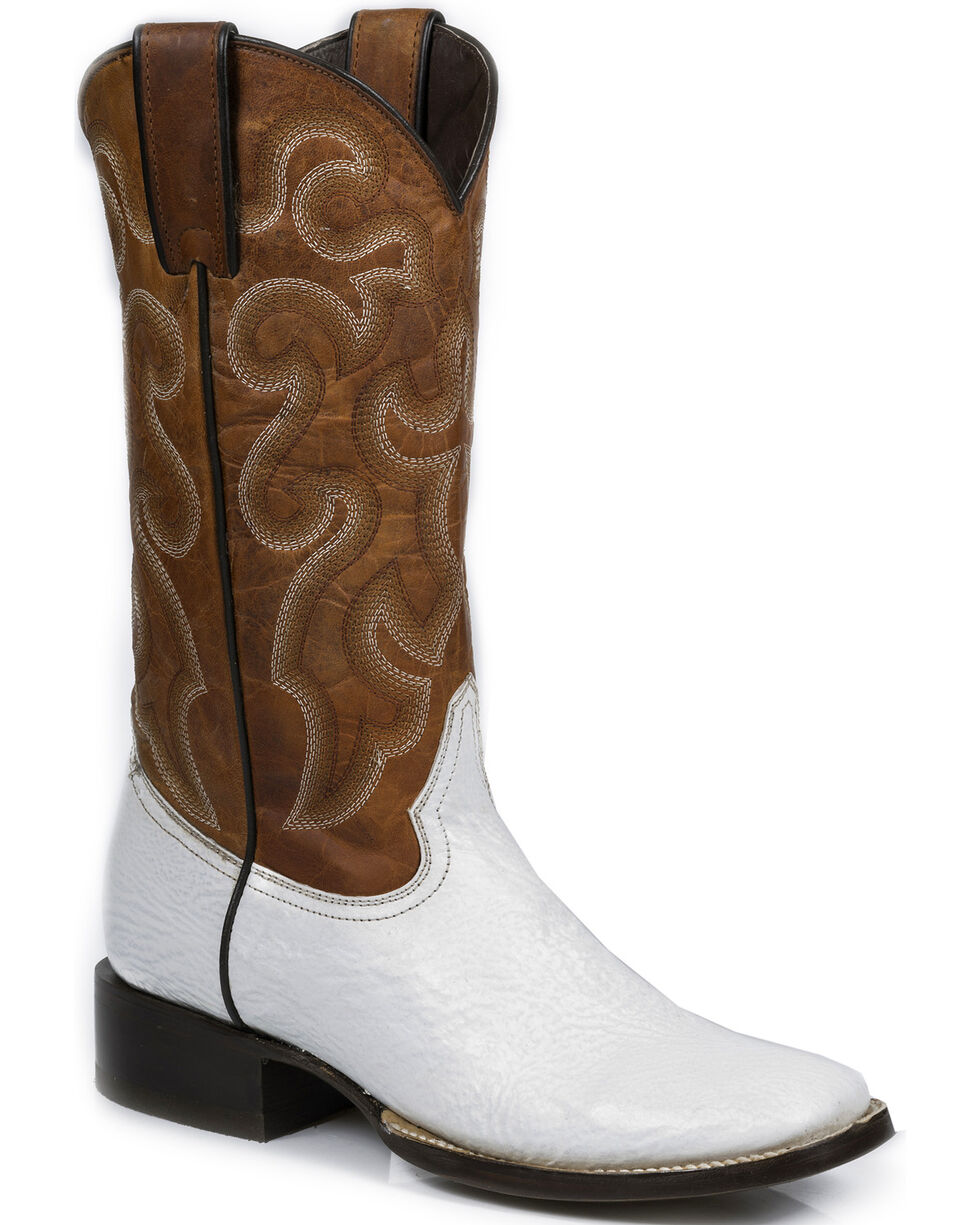 Stetson Women's White Shark Western Boots - Square Toe, , hi-res
