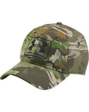 Under Armour Men's Forest Camo Stretch Fit Cap , Camouflage, hi-res