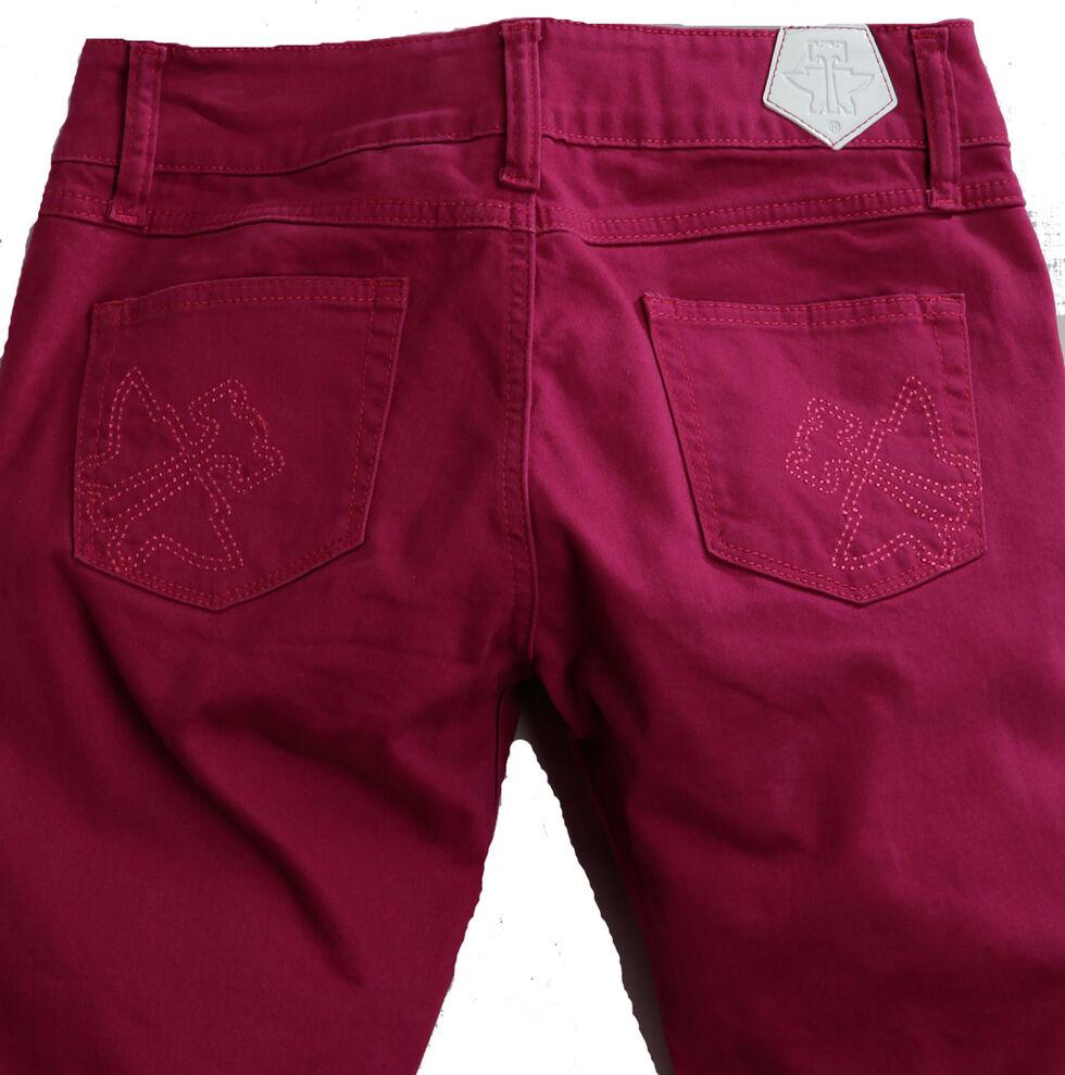 Tin Haul Women's Dolly Celebrity Colored Denim Bootcut Jeans, Purple, hi-res