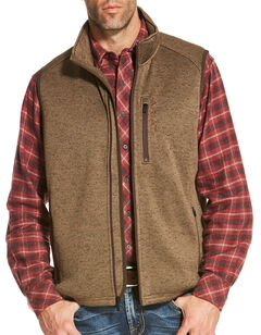 Ariat Men's Light Brown Caldwell Full Zip Vest, , hi-res
