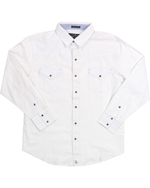 Cody James Men's Solid White Long Sleeve Shirt, White, hi-res