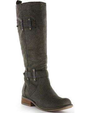 Circle G Women's Tall Top Fashion Boots, Black, hi-res