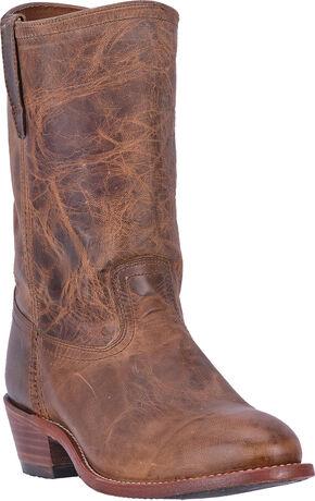 Dingo Vintage Tan Stewart Cowboy Boots - Round Toe , Tan, hi-res