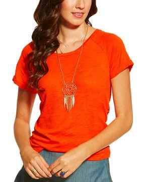 Ariat Women's Inwood Top, Red, hi-res