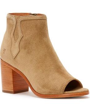 Frye Women's Sand Danica Peep Booties - Round Toe , Sand, hi-res