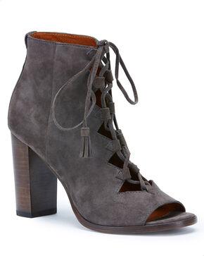 Frye Women's Grey Gabby Ghillie Booties - Round Toe , Grey, hi-res