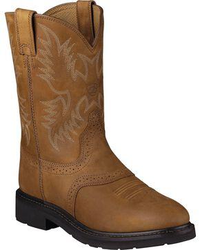 Ariat Sierra Saddle Western Work Boots, Aged Bark, hi-res