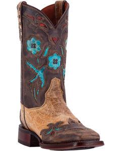 Dan Post Women's Khaki CC Bluebird Boots - Broad Square Toe, , hi-res