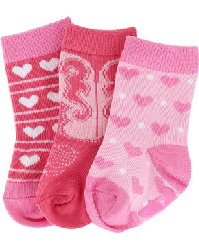 Shyanne Infant Girls' Heart Sock Set , Multi, hi-res