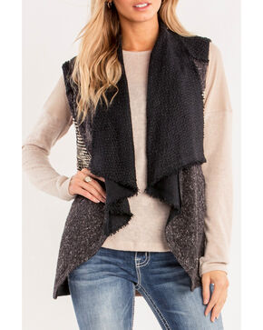 Miss Me Women's Grey Mix N' Mingle Vest , Grey, hi-res