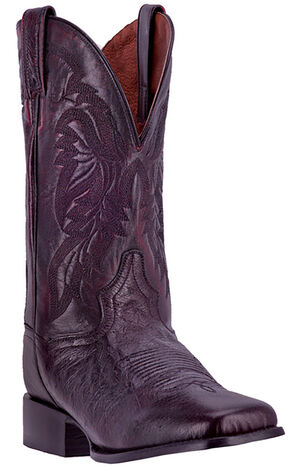 Dan Post Men's Black Cherry Callahan Cowboy Boots - Broad Square Toe, Black Cherry, hi-res