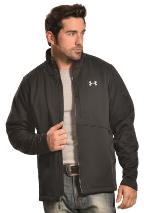 Under Armour Men's GoldGear Infrared Softershell Jacket, Black, hi-res
