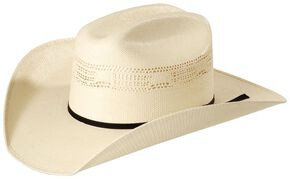 Justin 10X Cutter Straw Western Hat, Natural, hi-res