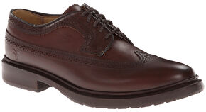 Frye Women's James Lug Wingtips, Chocolate, hi-res