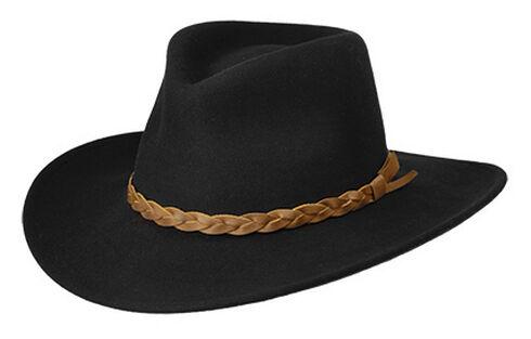 Master Hatters Men's Traveler Black Crushable Hat, , hi-res