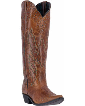 Laredo Women's Tall  Zipper Cowgirl Boots - Snip Toe , Brown, hi-res