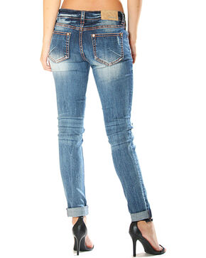Grace in LA Distressed Jeans - Skinny, Indigo, hi-res