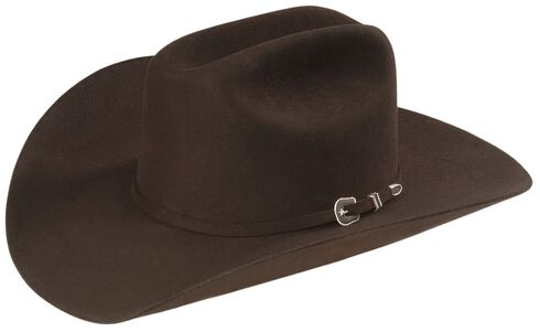Resistol George Strait 6X City Limits Fur Felt Western Hat, Chocolate, hi-res