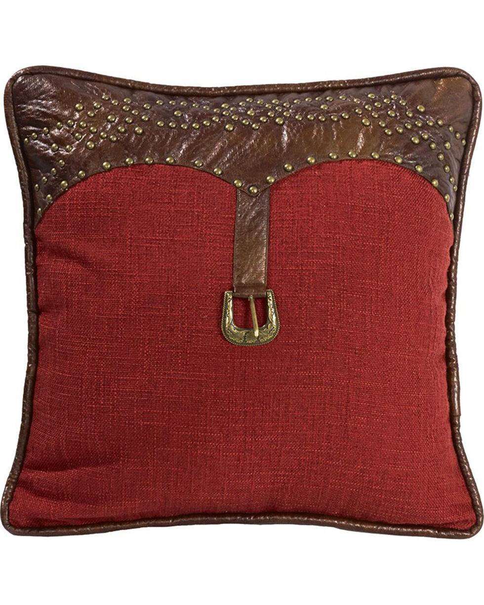 HiEnd Accents Ruidoso Square Red Throw Pillow, Multi, hi-res