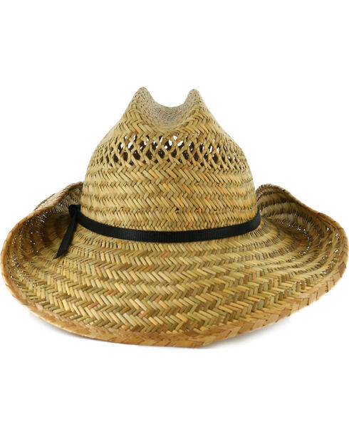 Cody James® Men's Rush Straw Cowboy Hat, Natural, hi-res