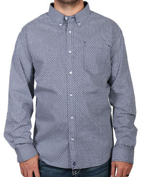 Cody James Men's Loess Long Sleeve Shirt - Big & Tall, Navy, hi-res