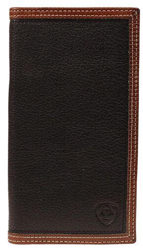Ariat Black & Tan Rodeo Wallet, Black, hi-res