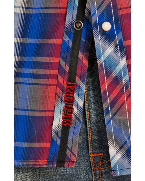 Rock & Roll Cowboy Men's Long Sleeve Snap Shirt , Blue, hi-res
