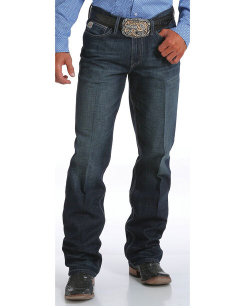 Cinch Men's Indigo August Grant Relaxed Fit Jeans -  Boot Cut, Indigo, hi-res