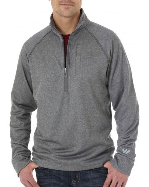 Wrangler Men's Cool Vantage Half Zip Pullover, Ash, hi-res