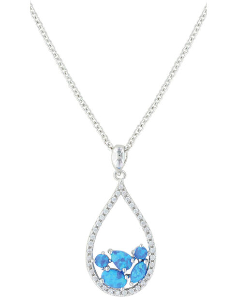 Montana Silversmiths Women's Silver River of Lights Teardrop Necklace , Silver, hi-res