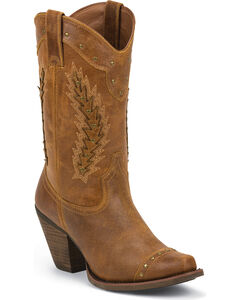 Justin Silver Women's Studded Cowgirl Boots - Snip Toe, , hi-res