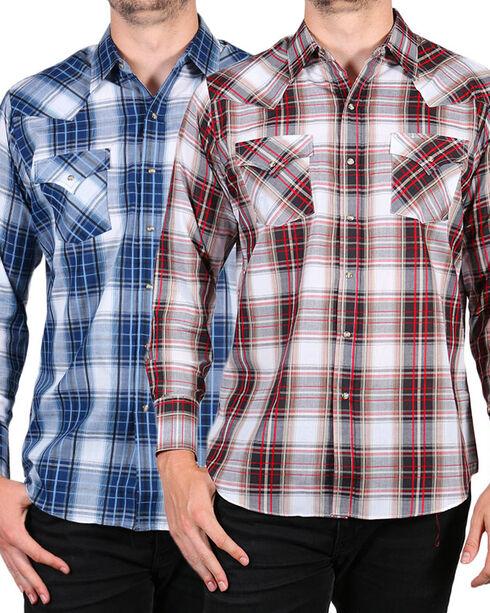 Ely Cattleman Men's Assorted Textured Plaid Shirt, Multi, hi-res