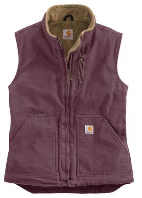 Carhartt Women's Sandstone Vest, Plum, hi-res