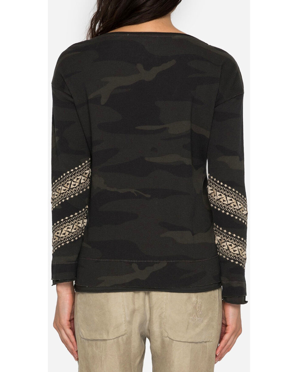 Johnny Was Women's Magdalene Thermal Shirt , Camouflage, hi-res