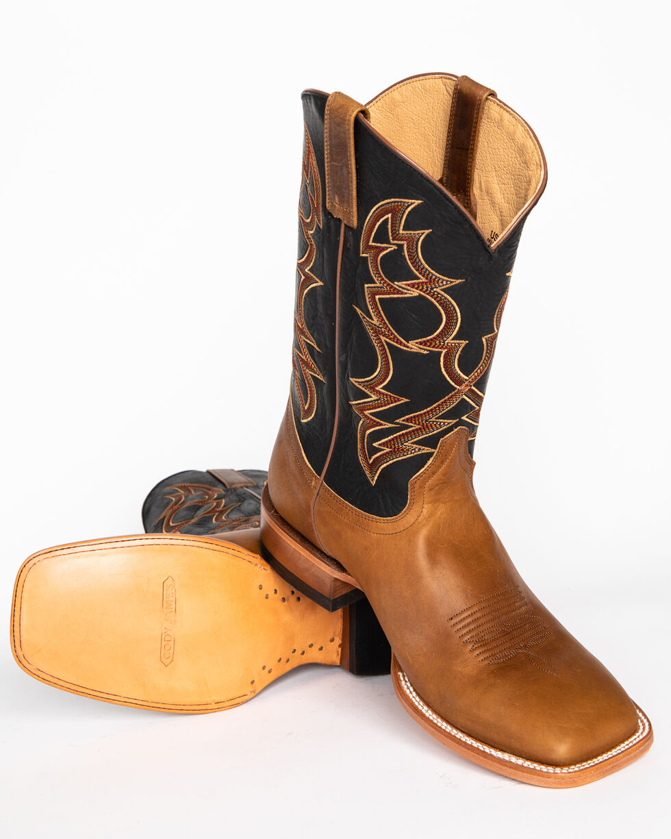 Cody James Men's Embroidered Western Boots - Square Toe, Brown, hi-res
