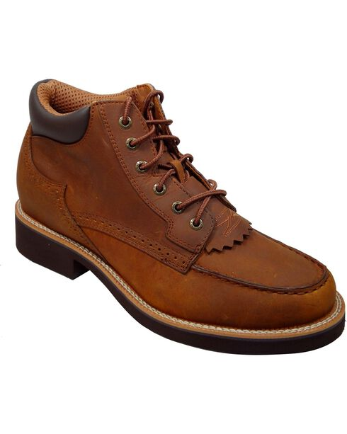 Twisted X Chuck Up Lace-Up Casual Shoes - Round Toe, Saddle Brown, hi-res