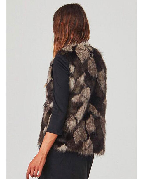 Jack by BB Dakota Women's Brown Genevieve Faux Fur Vest , Brown, hi-res