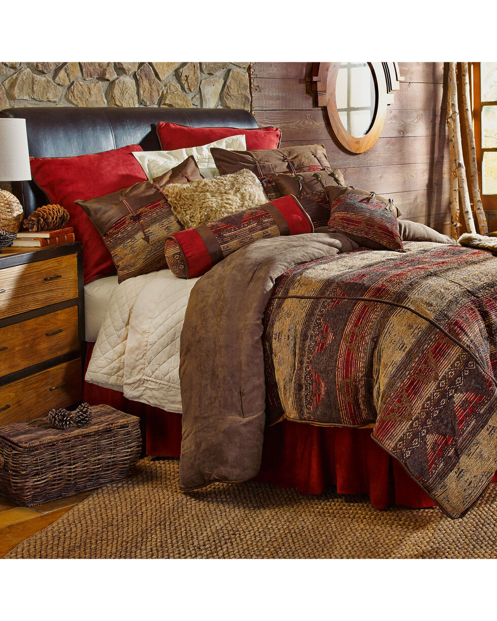 HiEnd Accents 7-Piece King Luxury Chenille Suede Sierra Bedding Set, Multi, hi-res