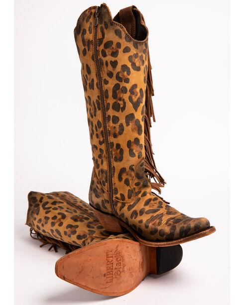 Liberty Black Women's Chita Miel Fringe Cowgirl Boots - Pointed Toe , Cheetah, hi-res