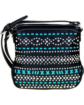 Montana West Women's Black Bling-Bling Concealed Carry Crossbody Bag , Black, hi-res